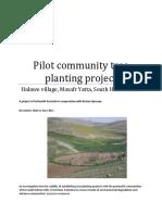 Pilot Community Tree Planting Project in Halawe Village - Final Report