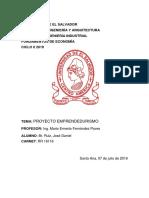 Universidad de El Salvado Rr16116 Fde Plan de Negocio