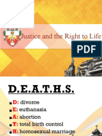 4 Justice and the Right to Life
