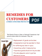 Remedies for Customers