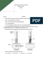 8 Physics Model