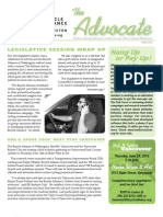 JUNE 2010 Advocate Newsletter, Bicycle Alliance of Washington