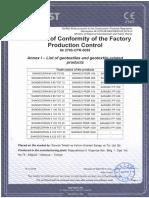 CE Certificate - Sancak