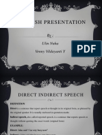 KELOMPOK 18 Direct Indirect Speech