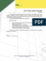74219-Especificaciones Técnicas Panel Signature 8600