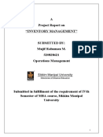 Project Report on Inventory Management