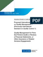 IAASB Proposed ISQM 1 Explanatory Memorandum