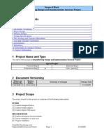 Sample Statement of Work for Blog Design Services v1.0