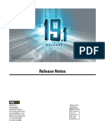 Release Notes 191