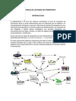 Evidencia 1 Ensayo Importancia de Las Redes de Transporte