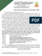 Thu Moi Vu Lan Vietnamese & English 2019