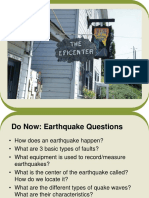 earth quake slide