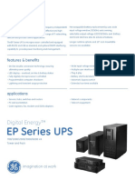 Ge Critical Power Ep Ups Datasheet