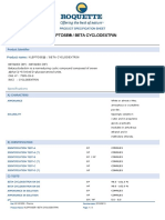 Roquette Quality Specification-sheet Kleptose--beta-cyclodextrin 50 341001 En