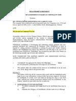 Dealership Agreement Sample