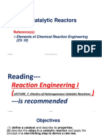 Lecture 6 Catalytic Reactors