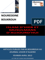 Islam d'Hier Et Musulmans d'Aujourd'Hui-NOUREDDINE BOUKROUH