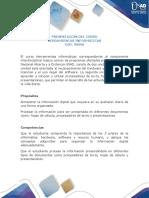 Presentación Del Curso Herramientas Informáticas