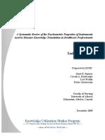 KT Measurement Review Final Technical Report 07April2010