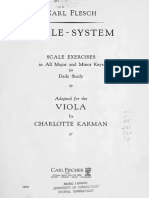 Scale System Scale Exercised (Major & Minor keys) Viola