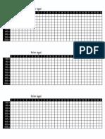 Tabela de Agua