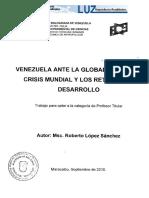 Venezuela ante la global crisis mundial y los retos