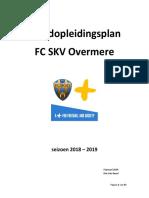Jeugdopleidingsplan 2018-2019