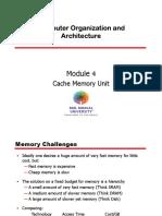 Module 4 - Cache Memory Part 1