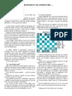 Chess - Scuola Di Scacchi - A Proposito Di Aperture