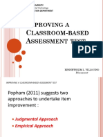 Improving a Classroom-Based Assessment Test