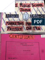 Business Studies Project on Tea ( Class 12th)
