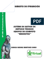 Instrumento de Evaluacion SENA ADSI 2015