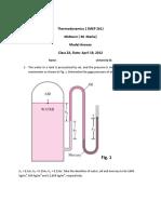 Thermodynamics -1 midterm solution