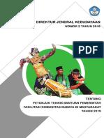Petunjuk Teknis Bantuan Pemerintah FKBM 2019