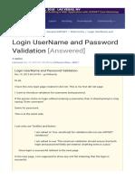 Login Form Using JavaScript Validation