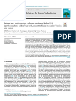 Fatigue Tests on the Proton Exchange Membrane Nafion 115 (Perfluorosulfonic Acid) of Fuel Cells 2019