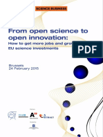 From Open Science to Open Innovation Eventpack 24 February 2015