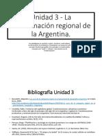 La Conformación Regional de la Argentina