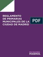 Reglamento de Primarias Municipales 2019