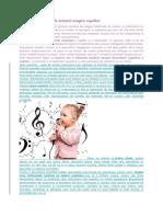 Efectele Si Beneficiile Muzicii Asupra Copiilor