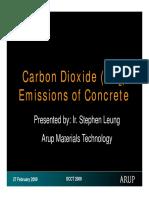 Carbon Dioxide Emissions of Concrete