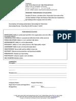 PUP OUS Radio Internship Evaluation