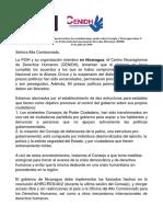 Carta de la FIDH y el Cenidh a la Alta Comisionada Adjunta de las Naciones Unidas para los Derechos Humanos
