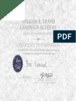 Murphy Nasica Campaign Academy Certificate