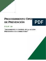 Pop018-Seguimiento y Control Accion Preventiva