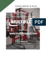 Multiflex Maquinaria Profesional Listado de Precios Septiembre a Diciembre 2018 (2)