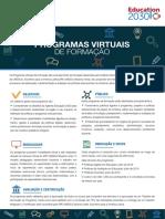 Programas virtuais de formacao - Políticas de Avaliacao