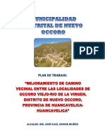 PLAN DE TRABAJO CARRETERA
