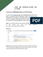 Poner Fecha de Publicación de Una Página Web