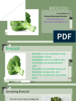 Broccoli sproute products